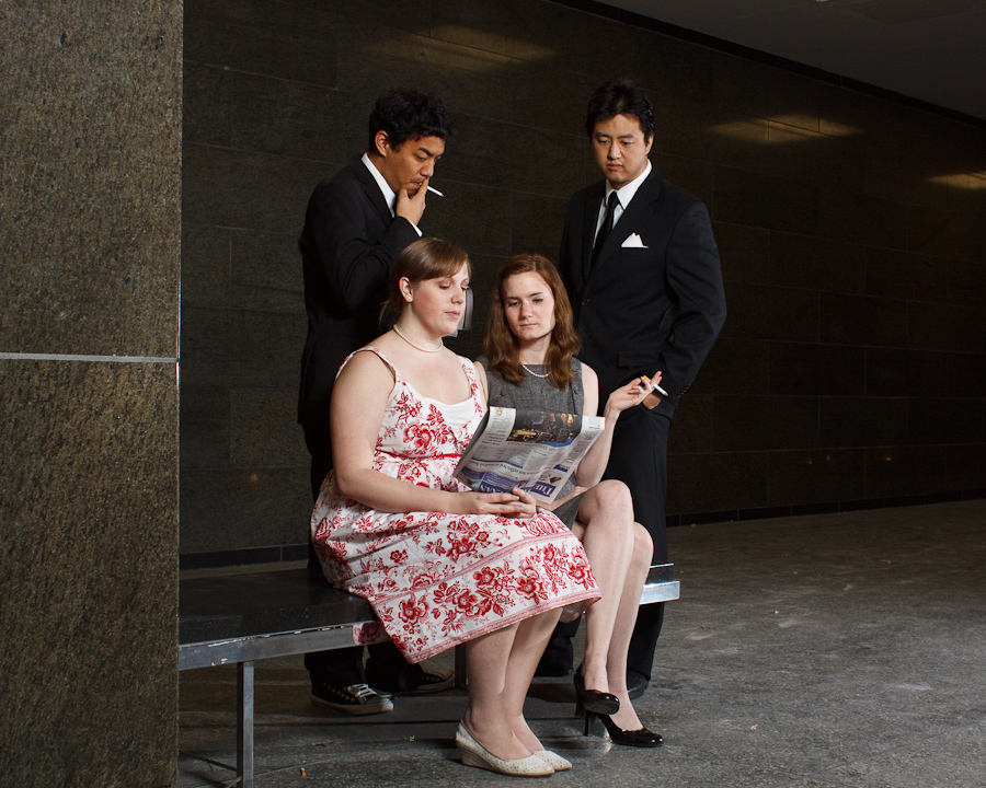 Dressed up as characters from Mad Men